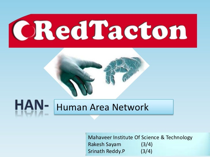 Human Area Network      Mahaveer Institute Of Science & Technology      Rakesh Sayam          (3/4)      Srinath Reddy.P  ...