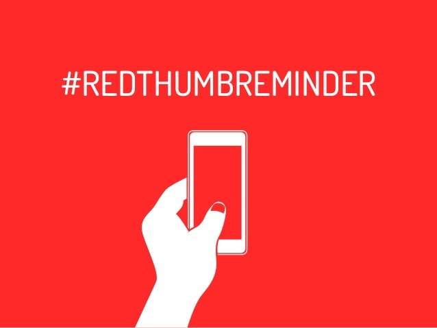Red Thumb Reminder Movement