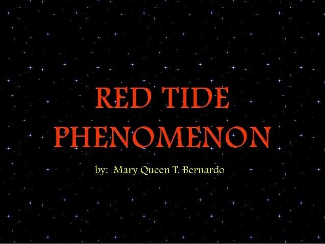 Red Tide Phenomenon