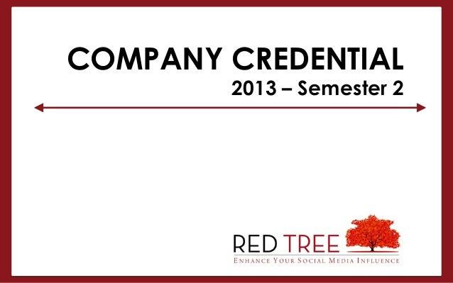 COMPANY CREDENTIAL2013 – Semester 2