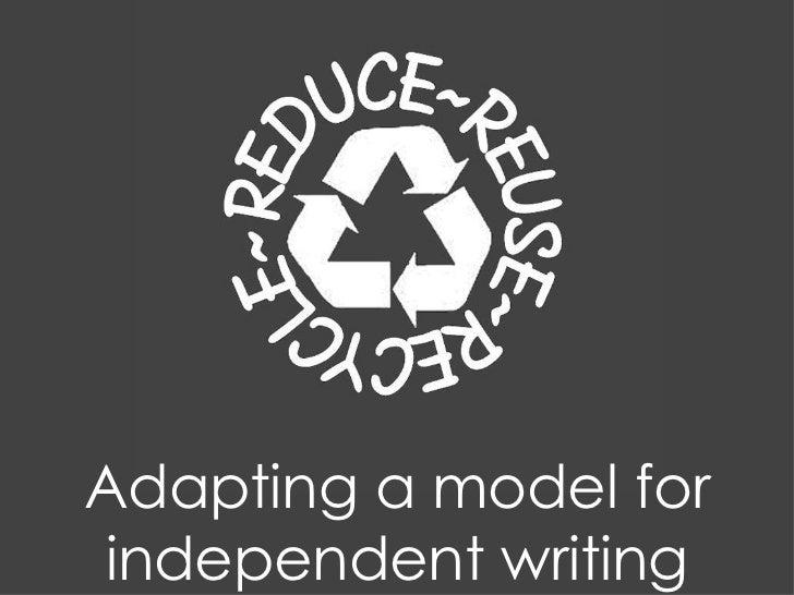 Reduce Reuse Recycle #ililc2