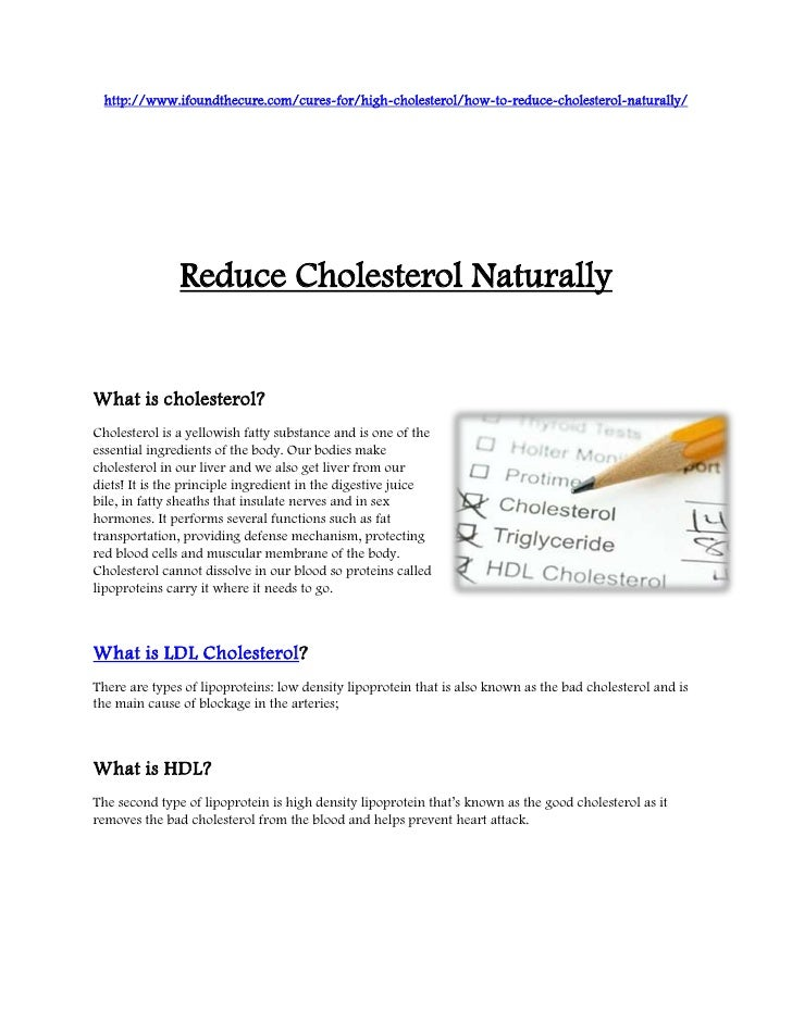 http://www.ifoundthecure.com/cures-for/high-cholesterol/how-to-reduce-cholesterol-naturally/               Reduce Choleste...