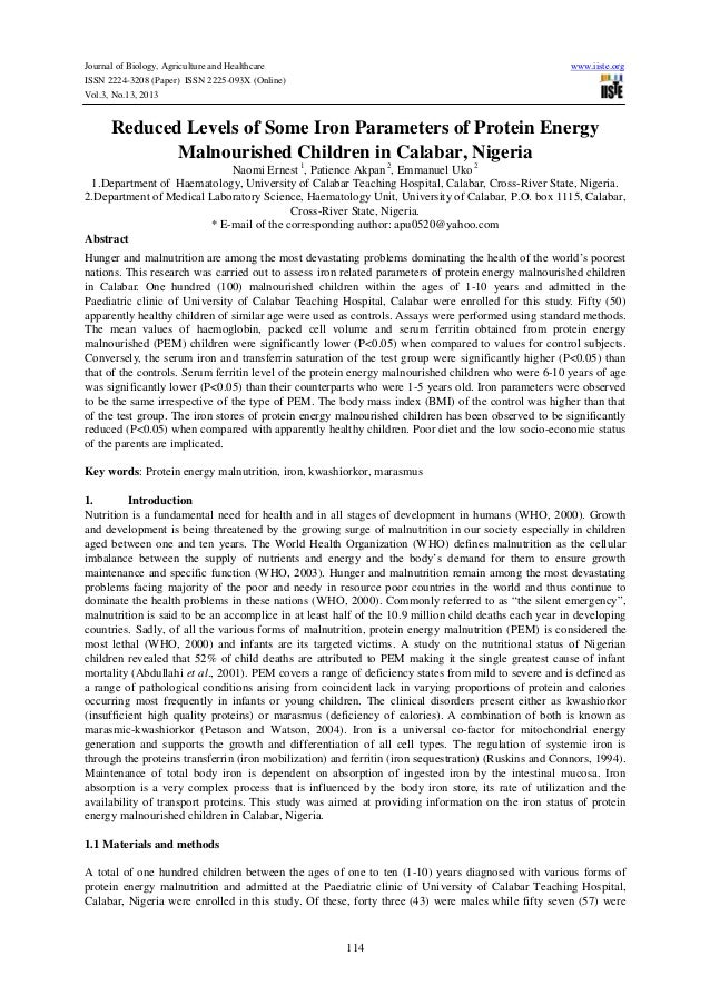 Journal of Biology, Agriculture and Healthcare ISSN 2224-3208 (Paper) ISSN 2225-093X (Online) Vol.3, No.13, 2013  www.iist...