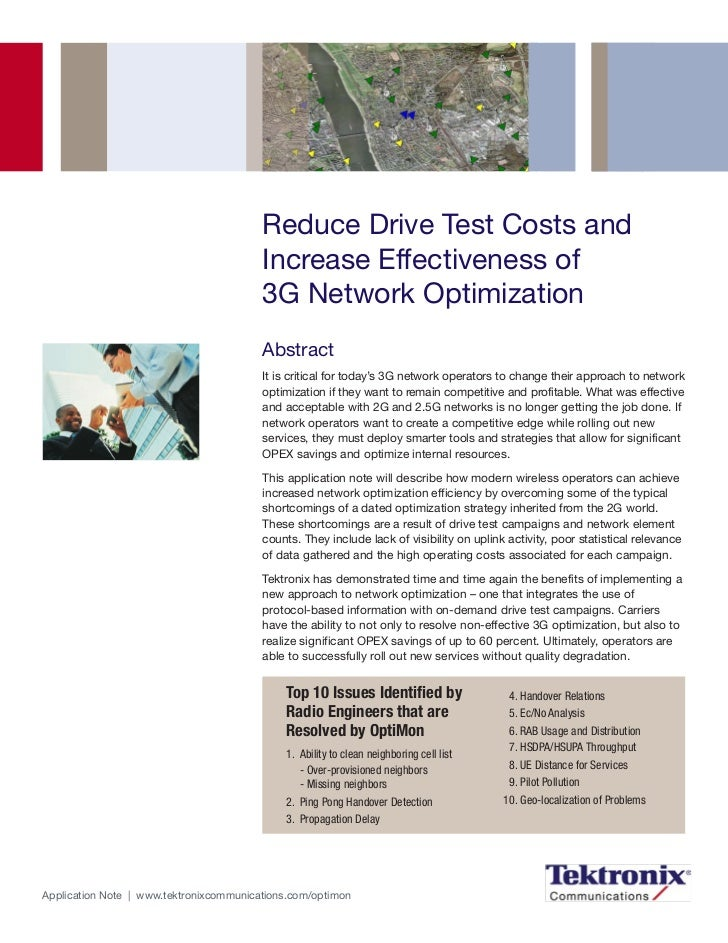Reduce Drive Test Costs and                                         Increase Effectiveness of                             ...