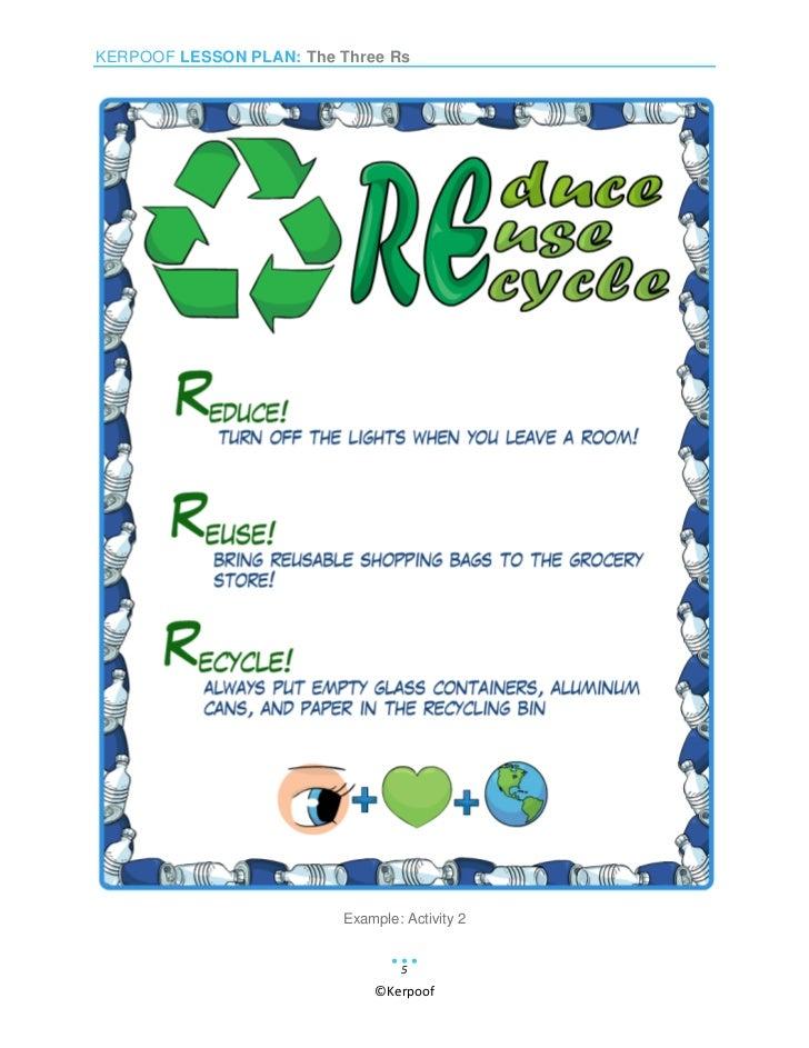 Reduce, Reuse, Recycle Worksheet | Have Fun Teaching