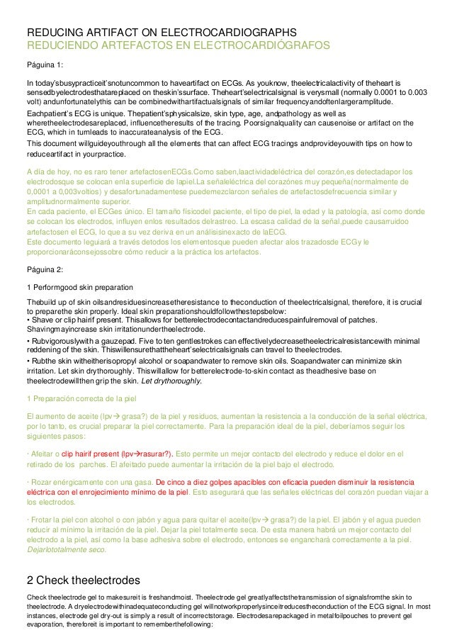 REDUCING ARTIFACT ON ELECTROCARDIOGRAPHS.docx