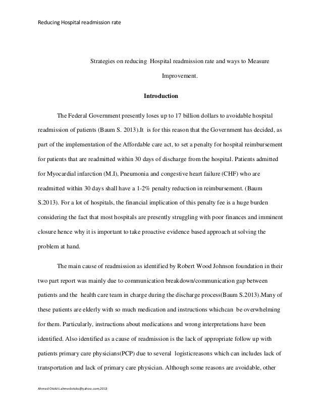 Readmission essay