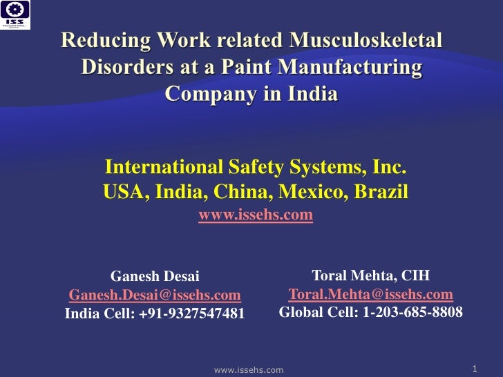 International Safety Systems, Inc.     USA, India, China, Mexico, Brazil                   www.issehs.com       Ganesh Des...