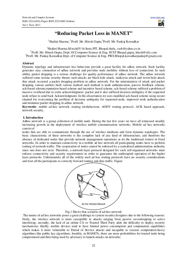 "Network and Complex Systems www.iiste.org ISSN 2224-610X (Paper) ISSN 2225-0603 (Online) Vol.3, No.6, 2013 22 ""Reducing Pa..."
