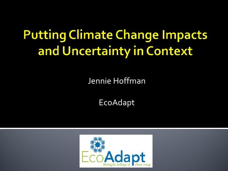 Jennie Hoffman EcoAdapt