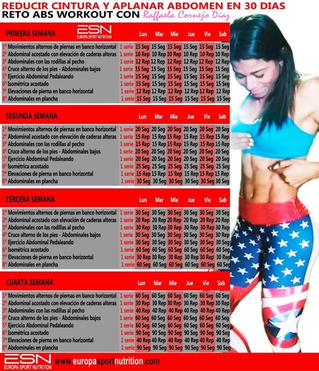 Reducir cintura y aplanar abdomen en 30 dias I ABS WORKOUT