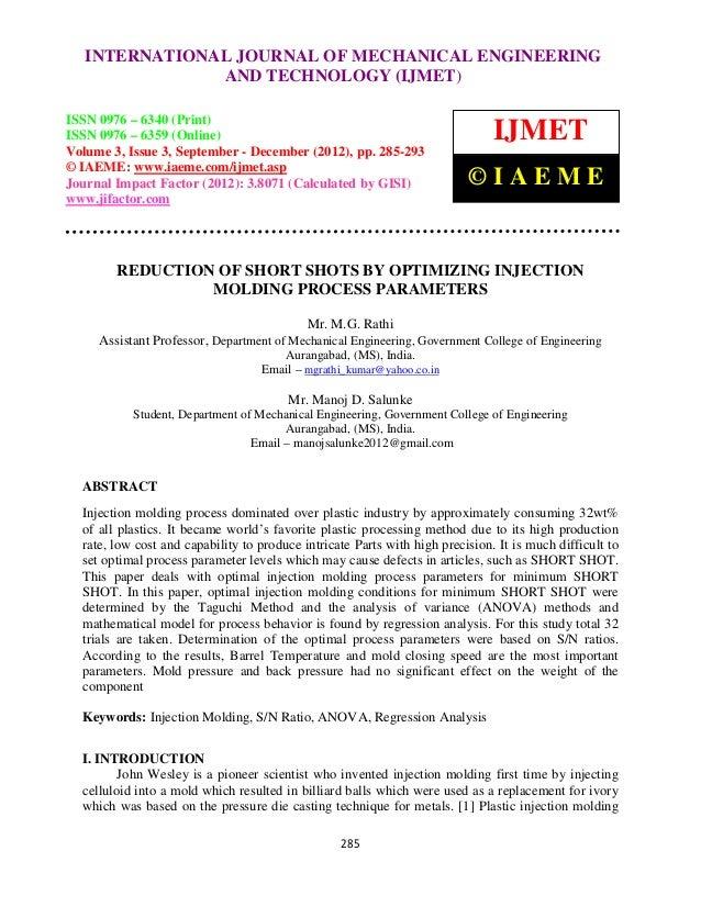 International Journal of Mechanical Engineering and Technology ENGINEERING –   INTERNATIONAL JOURNAL OF MECHANICAL (IJMET)...