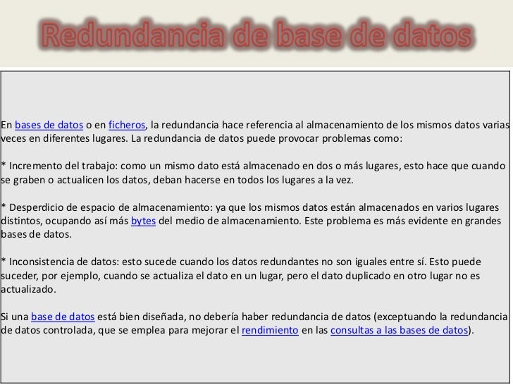 Redundancia de base de datos
