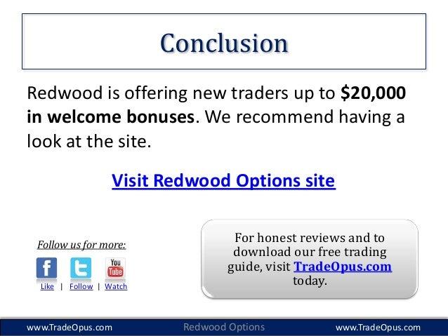Reviews on redwood binary options