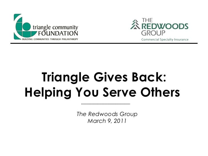 Triangle Gives Back: Helping You Serve Others