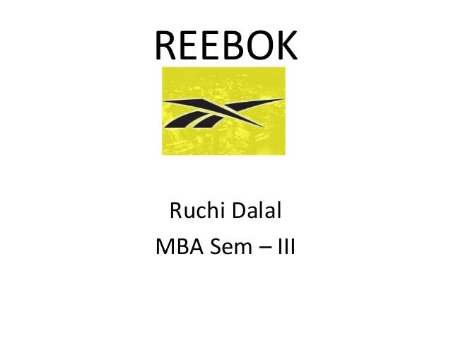 Reebok presentation for in context to International Business subject...
