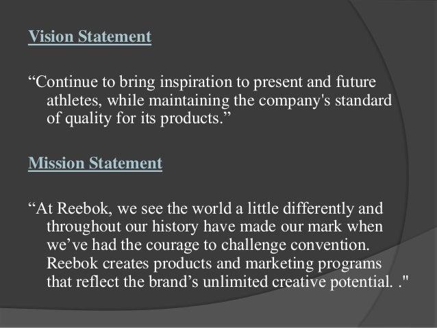 Adidas Shoe Company Mission Statement