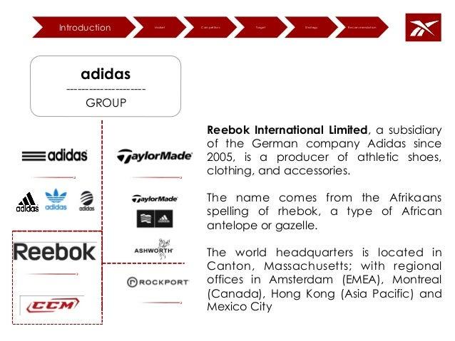 reebok adidas group