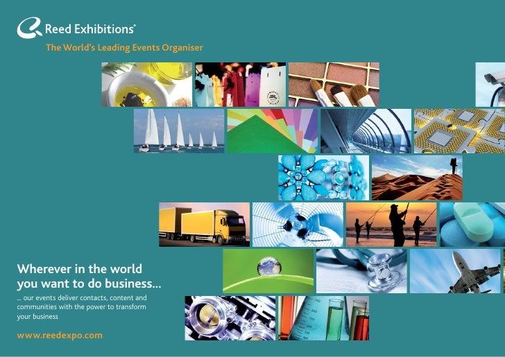 Reed Exhibitions Calendar 2011