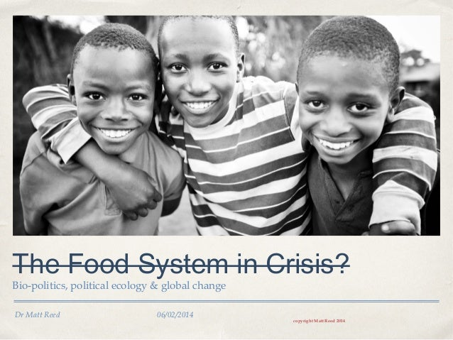 Is the Food System in Crisis?