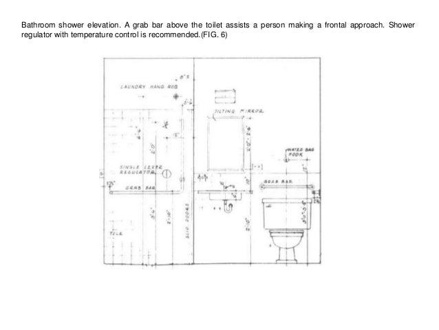 Handicapped bathroom design