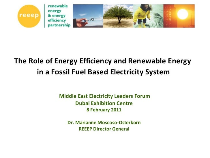 The Role of Energy Efficiency and Renewable Energy      in a Fossil Fuel Based Electricity System            Middle East E...