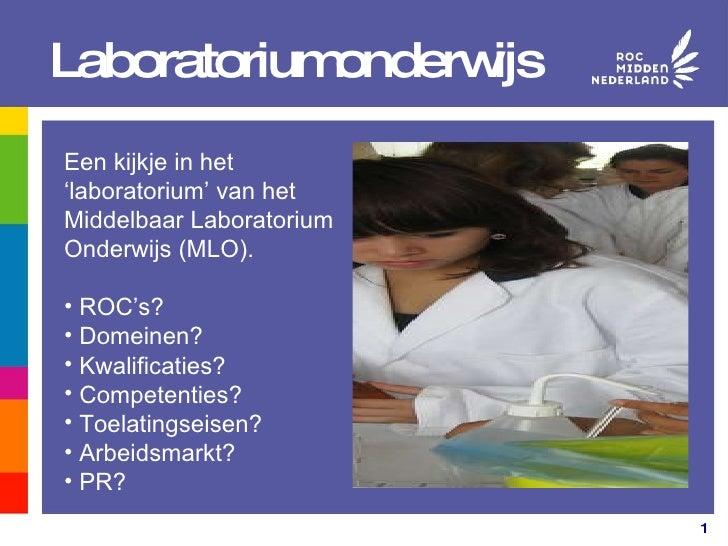 MLO: Middelbaar Laboratorium Onderwijs