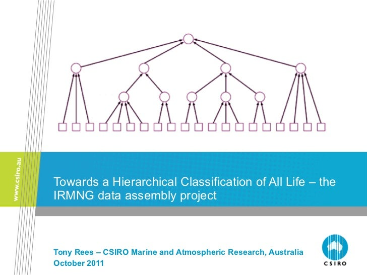 Towards a Hierarchical Classification of All Life – the IRMNG data assembly project Tony Rees – CSIRO Marine and Atmospher...