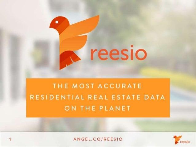 Reesio 2013 Seed Round Investor Deck