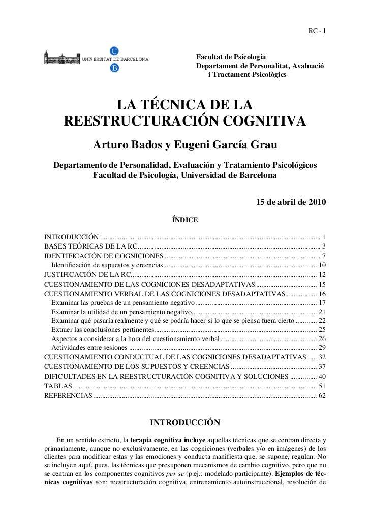 RC - 1                                                                              Facultat de Psicologia                ...