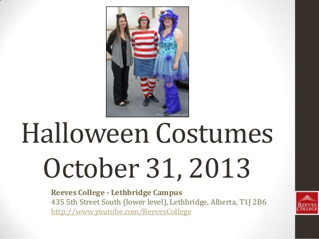 Reeves College students and Instructors in Halloween Costumes in Lethbridge, Alberta