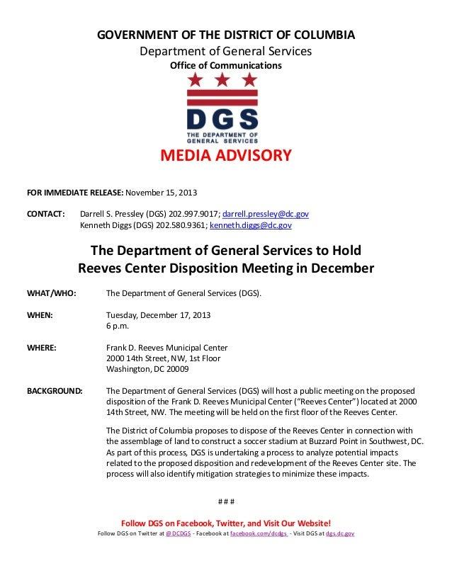 Reeves Disposition Meeting (December 17, 2013)