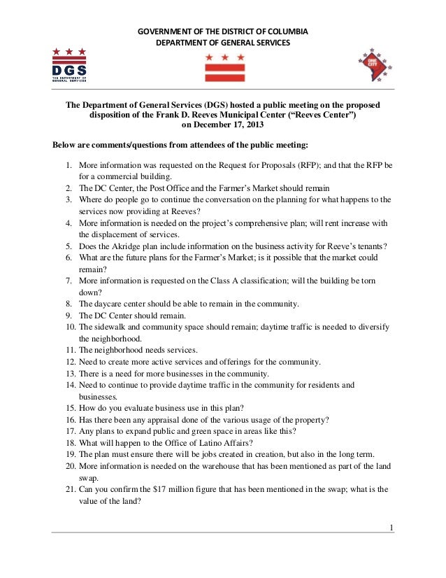 Reeves Disposition Meeting Questions (Dec. 17, 2013)