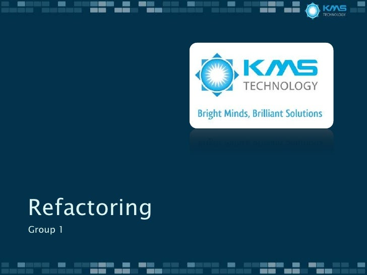 Refactoring   group 1 - chapter 3,4,6