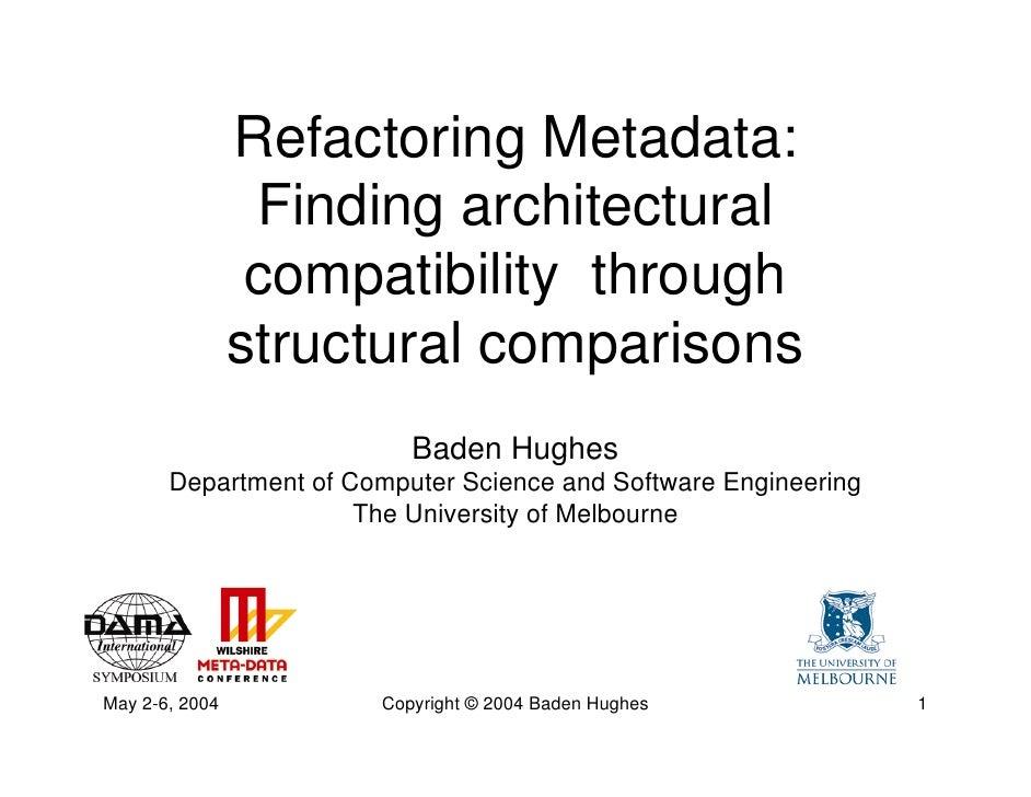 Refactoring Metadata: