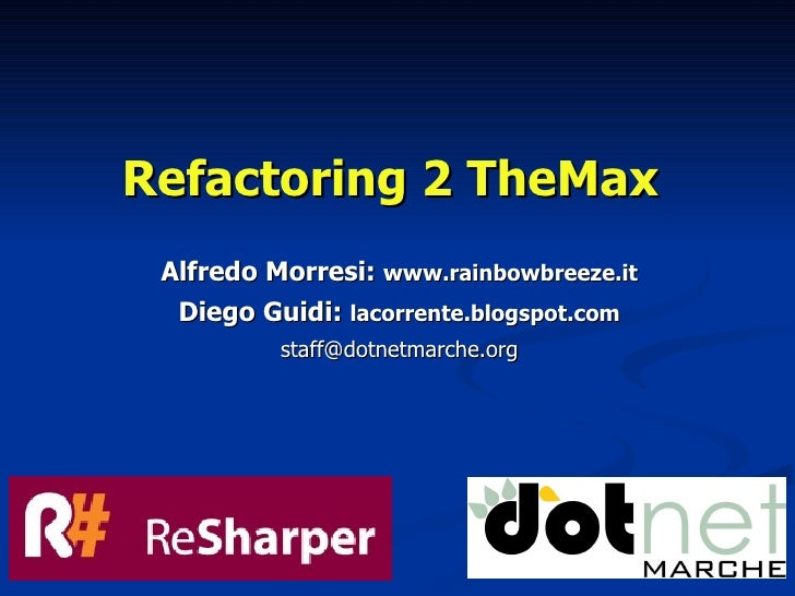 Refactoring 2 The Max