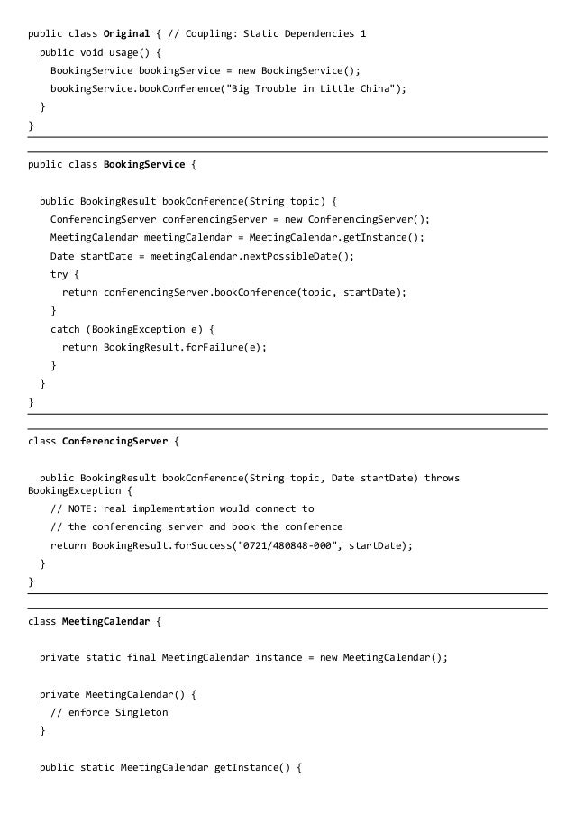 Refactoring for Tests - Handout