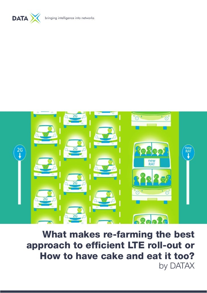What makes re-farming the bestapproach to efficient LTE roll-out or  How to have cake and eat it too?                     ...