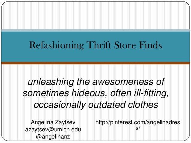 Refashioning thrift store finds