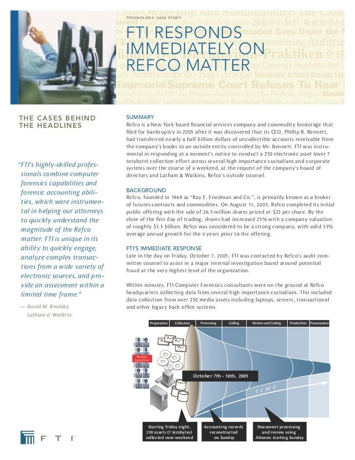 Refco Case Study