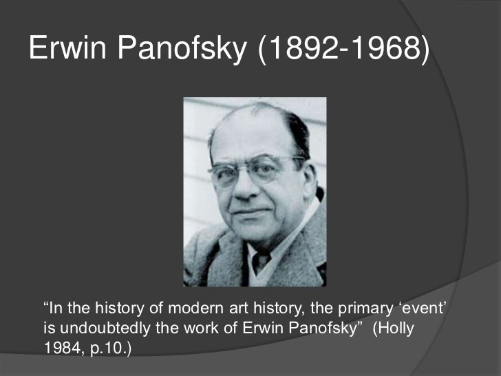 erwin panofsky iconography and iconology pdf