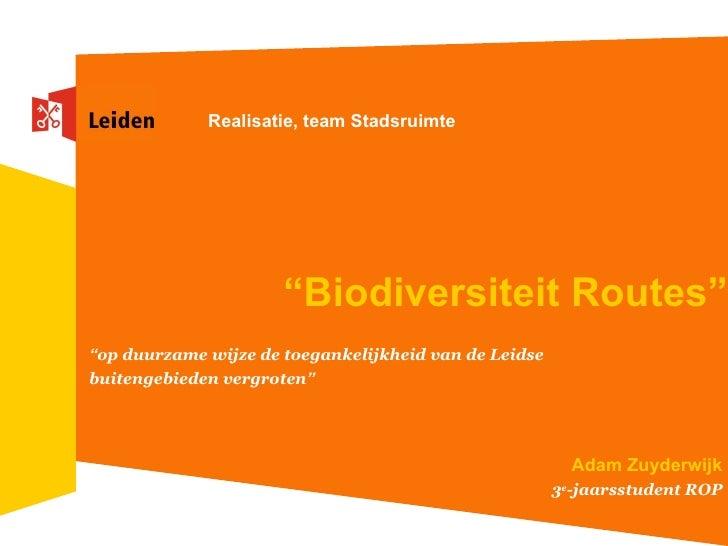 Referaat Biodiversiteit Routes