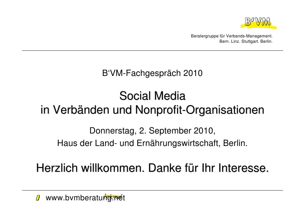 Beratergruppe für Verbands-Management.                                                    Bern. Linz. Stuttgart. Berlin.  ...