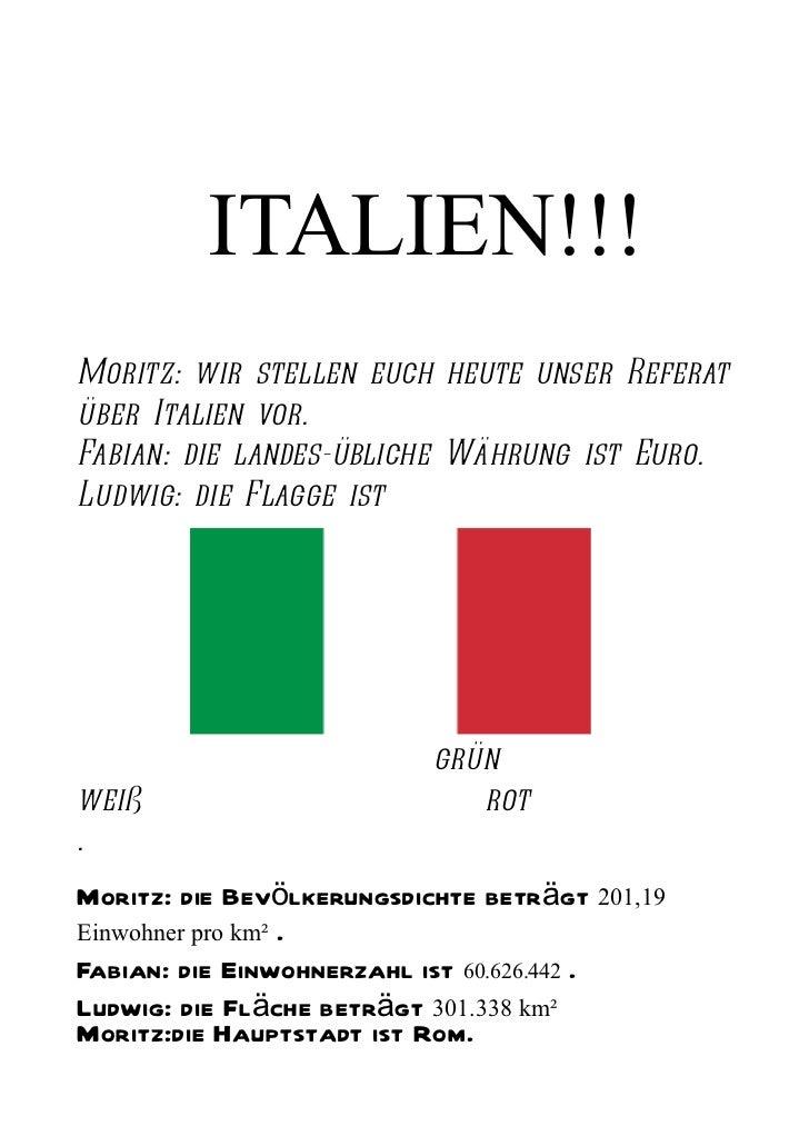 Referat italien