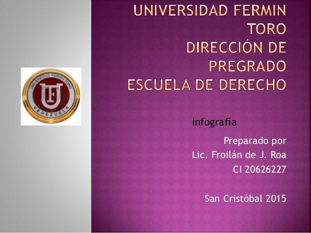 Preparado por Lic. Froilán de J. Roa CI 20626227 San Cristóbal 2015 Infografía