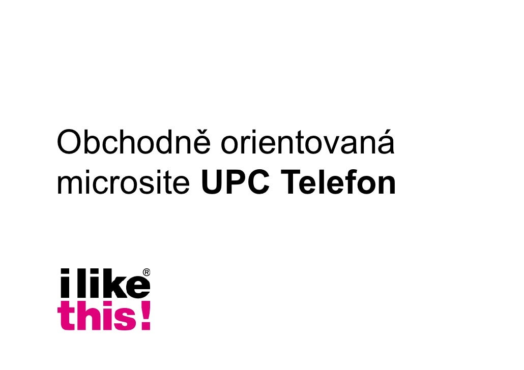 Microsite UPC Telefon
