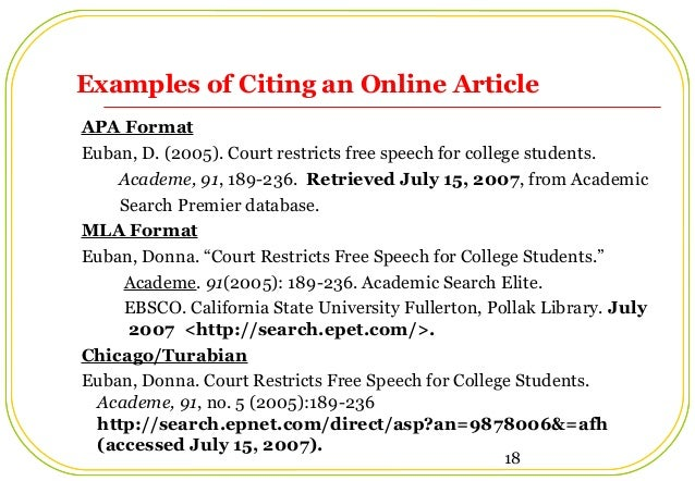 apa in text citation article online