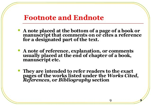 essay footnotes bibliography Footnotes and bibliographies introduction to documentation proper documentation of sources is essential to a strong research essay failure to cite your sources.