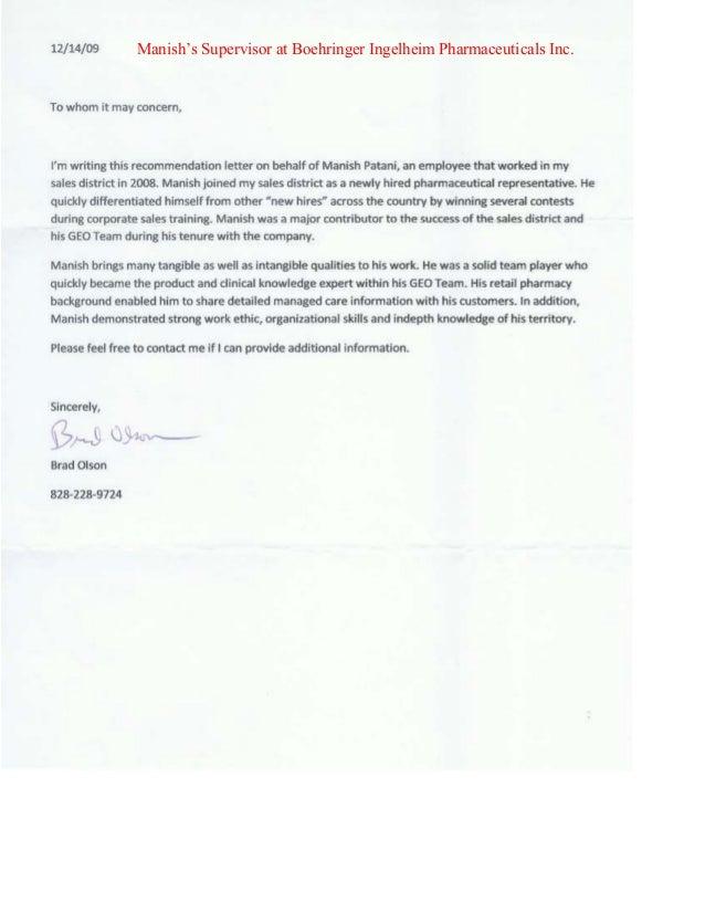 Sample Recommendation Letter For Ms In Pharmacy. Letter Of ...