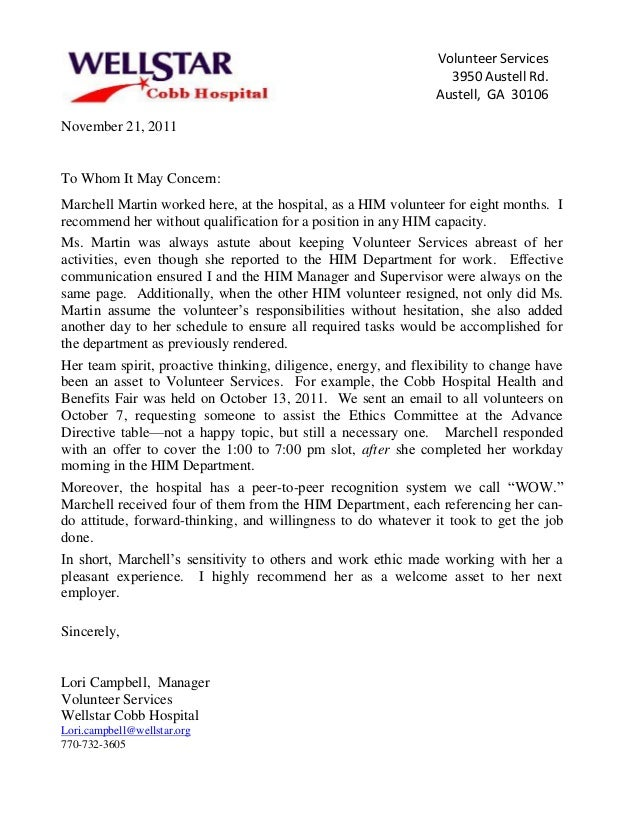 Letter of recommendation for volunteer tiredriveeasy letter of recommendation for volunteer expocarfo